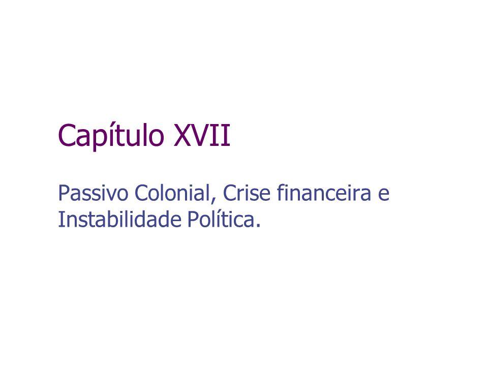 Capítulo XVII Passivo Colonial, Crise financeira e Instabilidade Política.