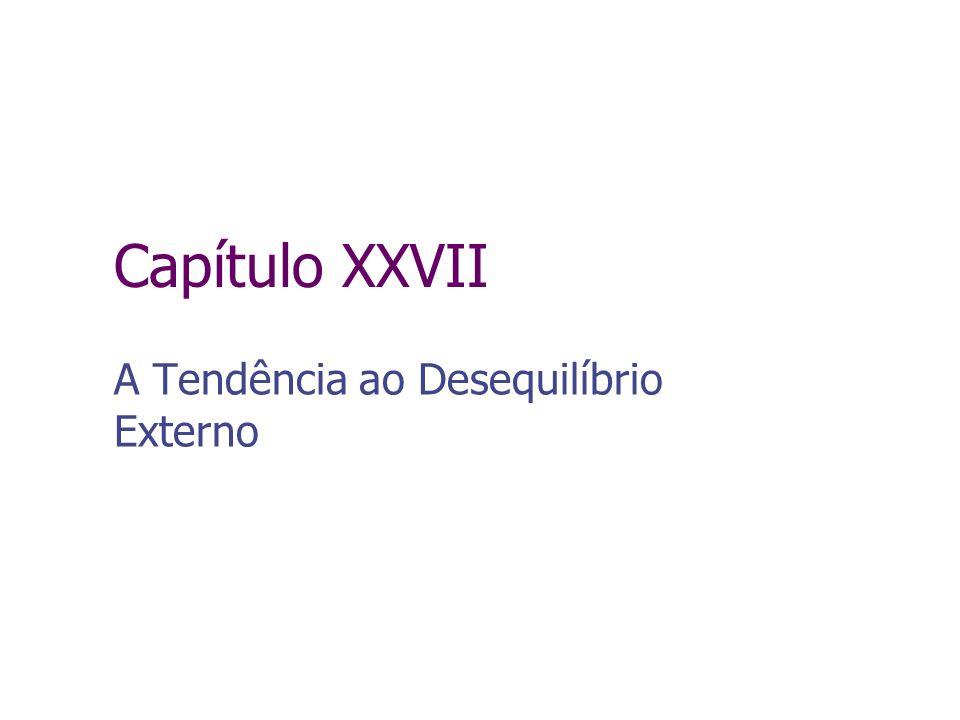 Capítulo XXVII A Tendência ao Desequilíbrio Externo