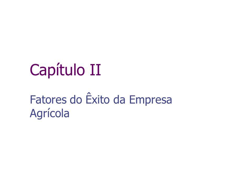 Capítulo II Fatores do Êxito da Empresa Agrícola