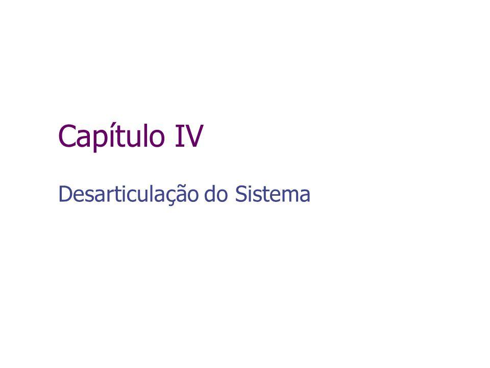 Capítulo IV Desarticulação do Sistema
