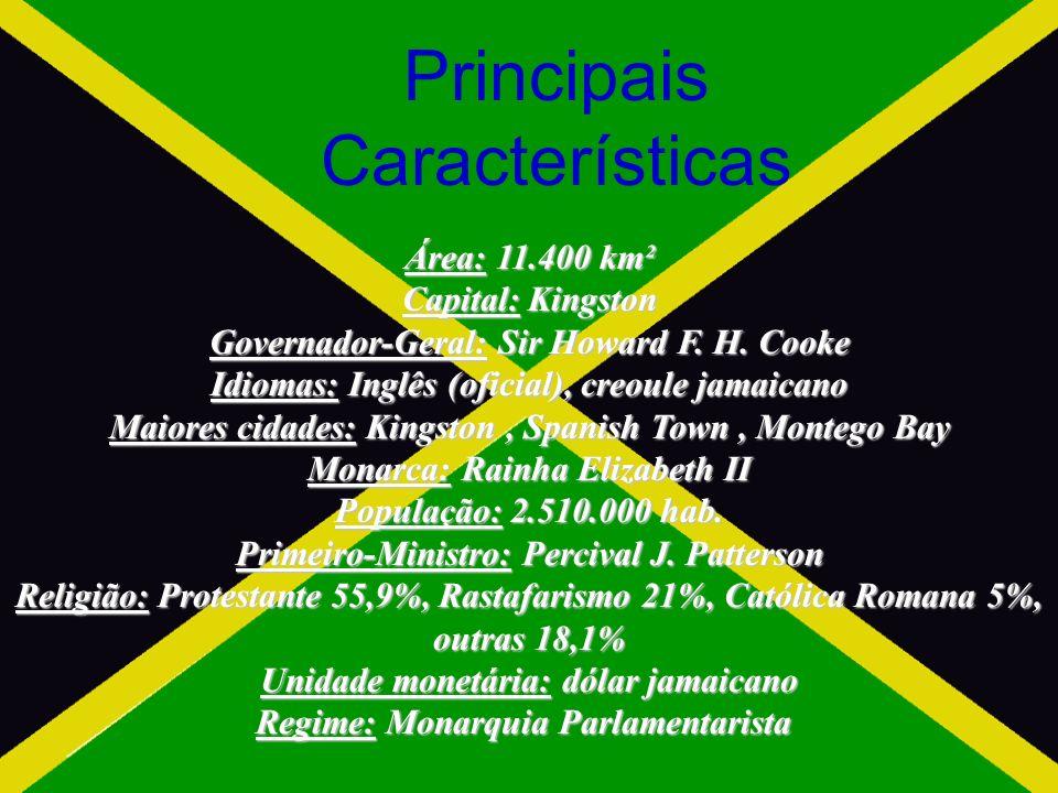 Principais Características Área: 11.400 km² Capital: Kingston Governador-Geral: Sir Howard F.