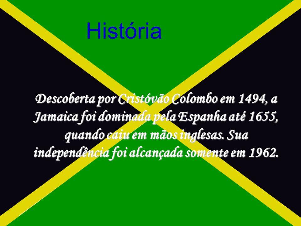 Descoberta por Cristóvão Colombo em 1494, a Jamaica foi dominada pela Espanha até 1655, quando caiu em mãos inglesas.