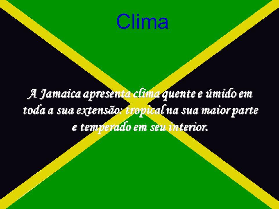A Jamaica apresenta clima quente e úmido em toda a sua extensão: tropical na sua maior parte e temperado em seu interior.
