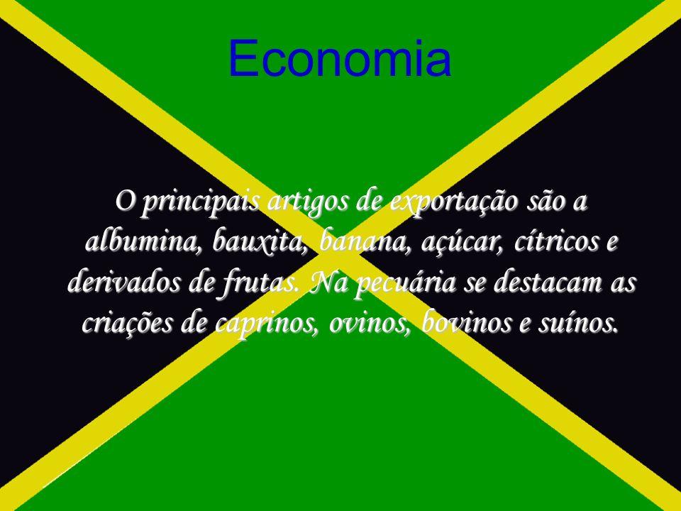 Economia O principais artigos de exportação são a albumina, bauxita, banana, açúcar, cítricos e derivados de frutas.