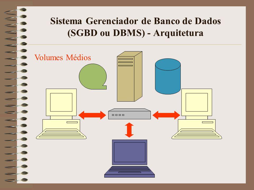 Sistema Gerenciador de Banco de Dados (SGBD ou DBMS) - Arquitetura Grandes Volumes
