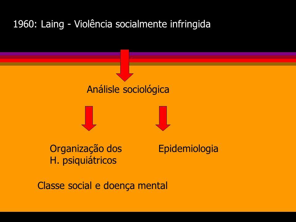 França: Psiquiatria de setor EUA: Prevenção primária secundária terciária Redefinição dos conceitos de saúde mental Maio de 1968: movimento universitá