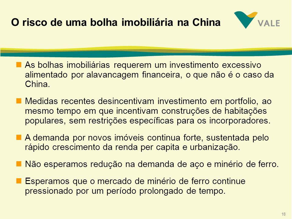 18 nAs bolhas imobiliárias requerem um investimento excessivo alimentado por alavancagem financeira, o que não é o caso da China.