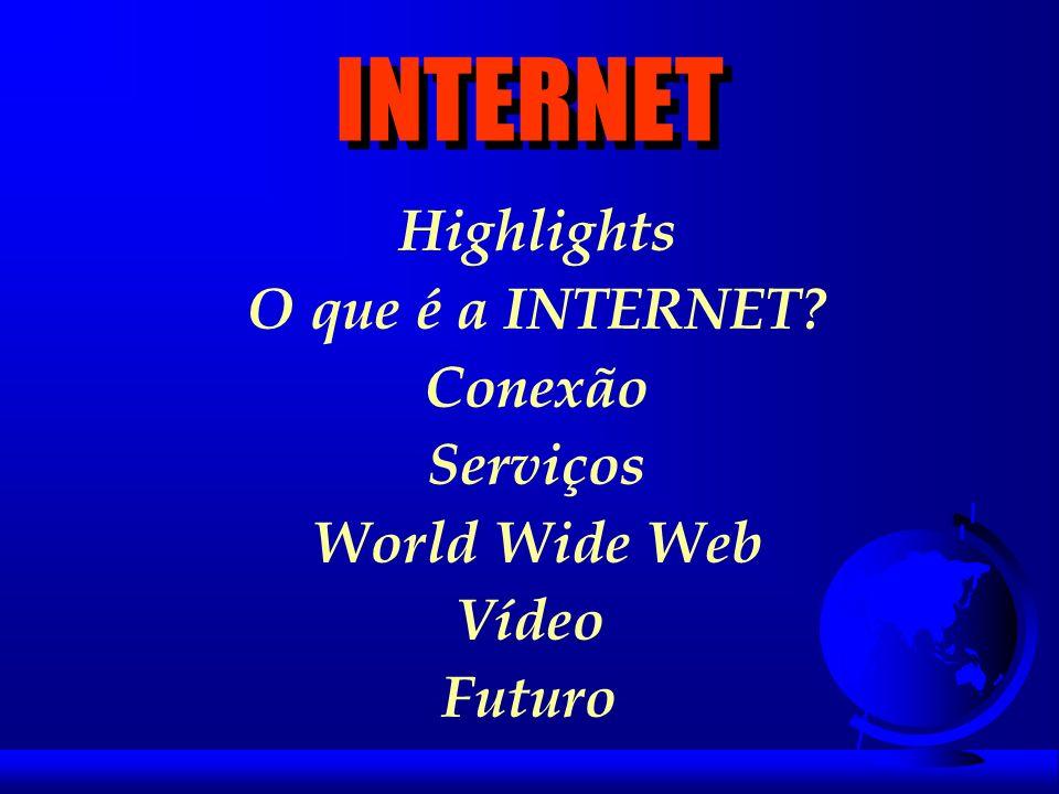 Highlights l 1957 - nasce a ARPA l 1962 - ARPAnet (Stanford, Berkeley, UCLA, Utah) l 1971 - Triplicou usuarios/hosts - Nasce o Email l 1983 - IP se faz necessário.