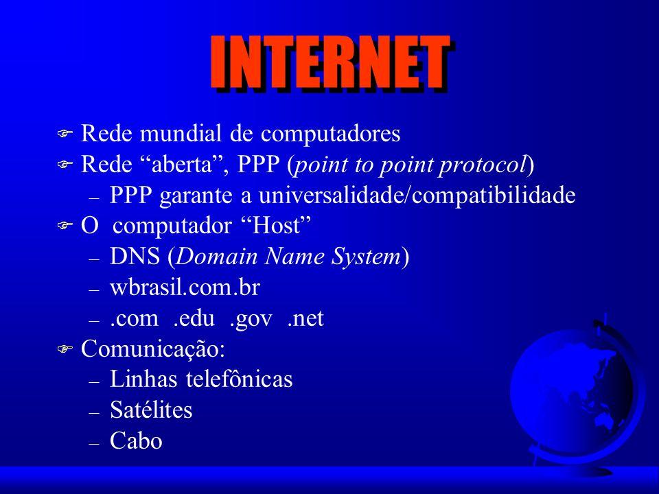 INTERNET F Como é feita a comunicação.