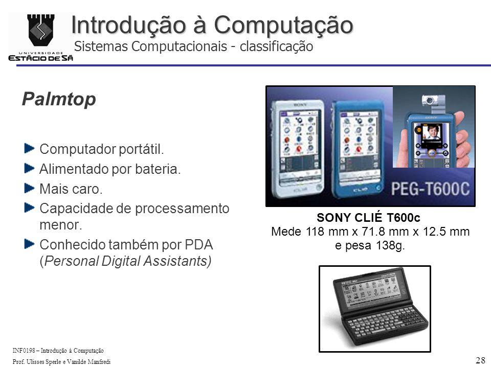 28 INF0198 – Introdução à Computação Prof.