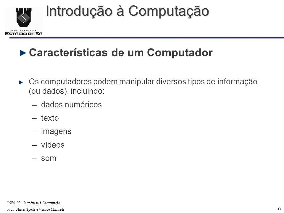 6 INF0198 – Introdução à Computação Prof.
