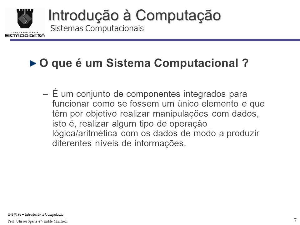 18 INF0198 – Introdução à Computação Prof.