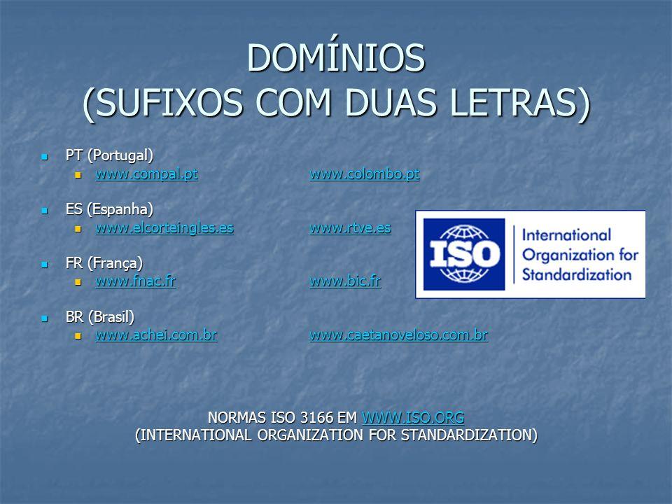 DOMÍNIOS (SUFIXOS COM DUAS LETRAS) PT (Portugal) PT (Portugal) www.compal.ptwww.colombo.pt www.compal.ptwww.colombo.pt www.compal.ptwww.colombo.pt www