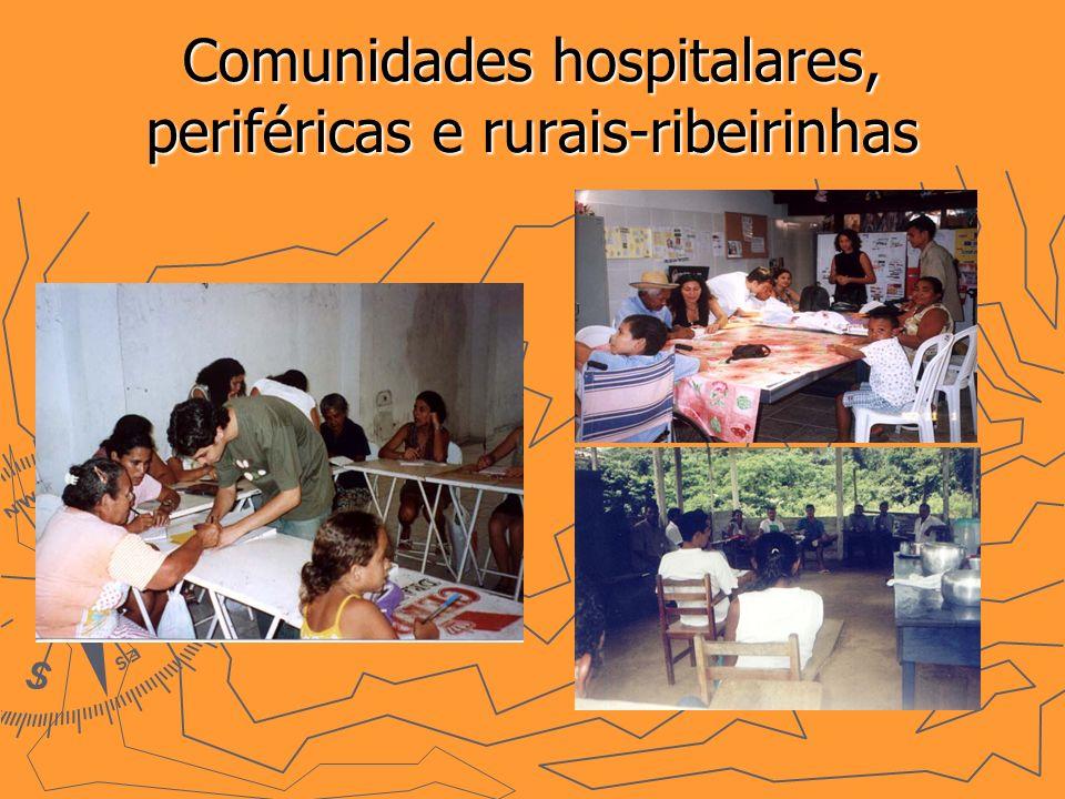 Comunidades hospitalares, periféricas e rurais-ribeirinhas