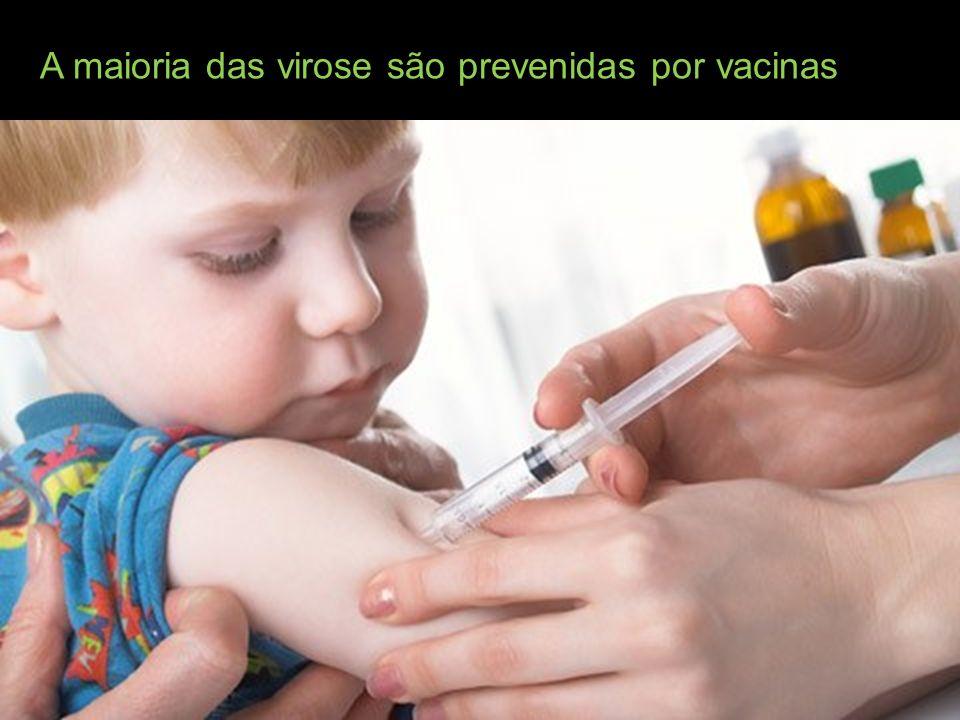 A maioria das virose são prevenidas por vacinas