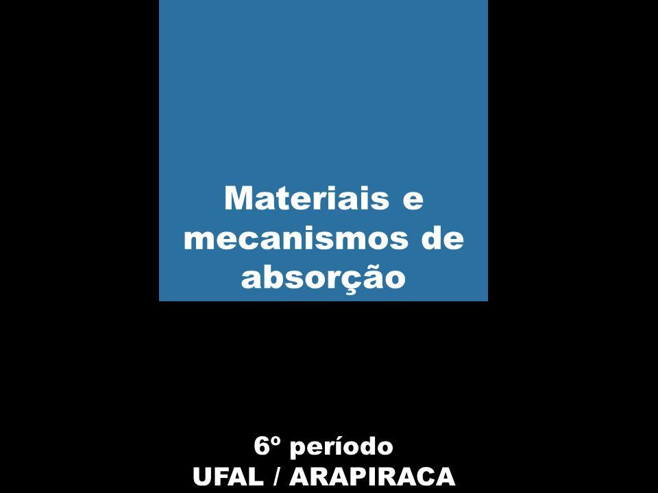 6º período UFAL / ARAPIRACA Materiais e mecanismos de absorção