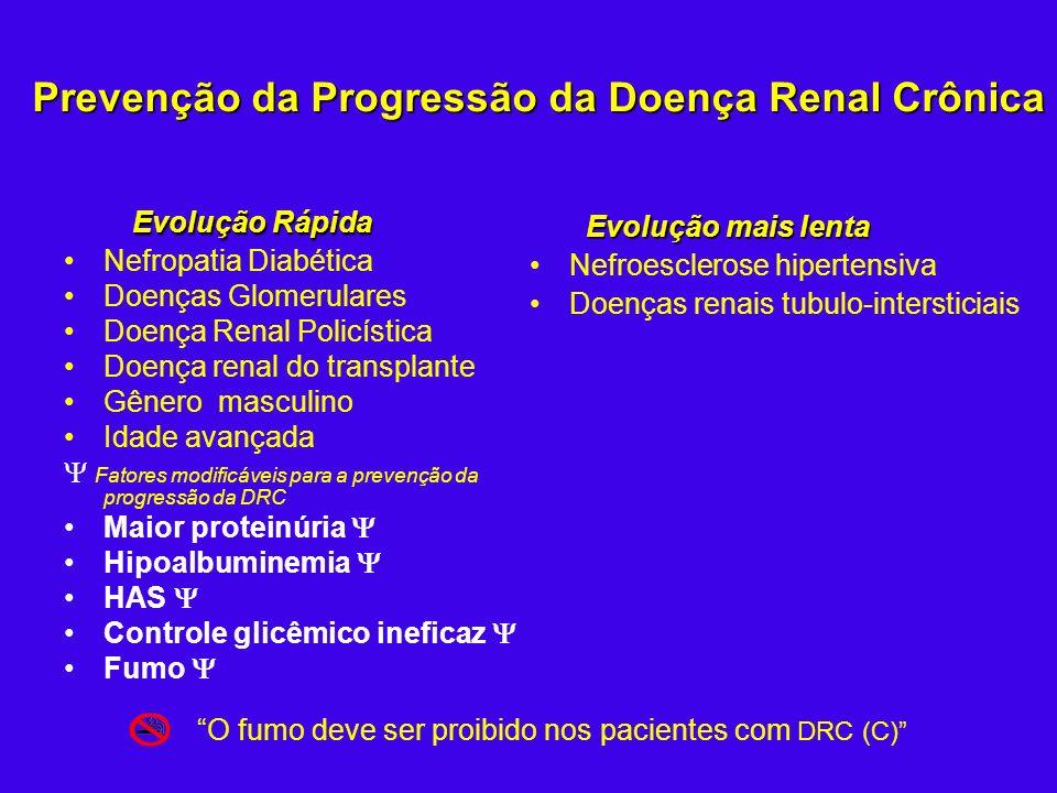 Prevenção da Progressão da Doença Renal Crônica Evolução Rápida Nefropatia Diabética Doenças Glomerulares Doença Renal Policística Doença renal do tra