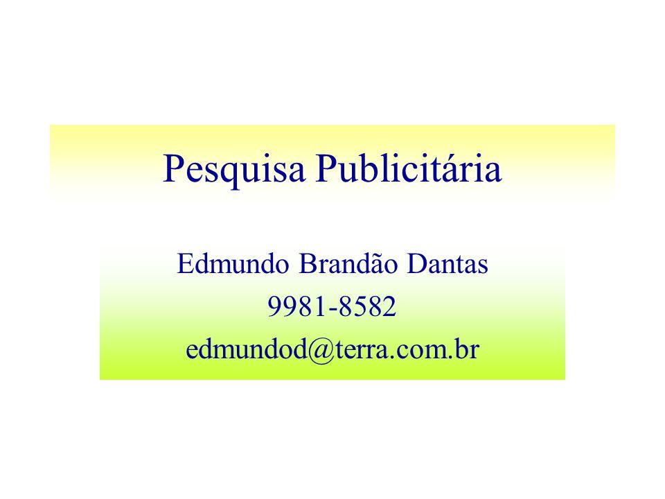 Pesquisa Publicitária Edmundo Brandão Dantas 9981-8582 edmundod@terra.com.br
