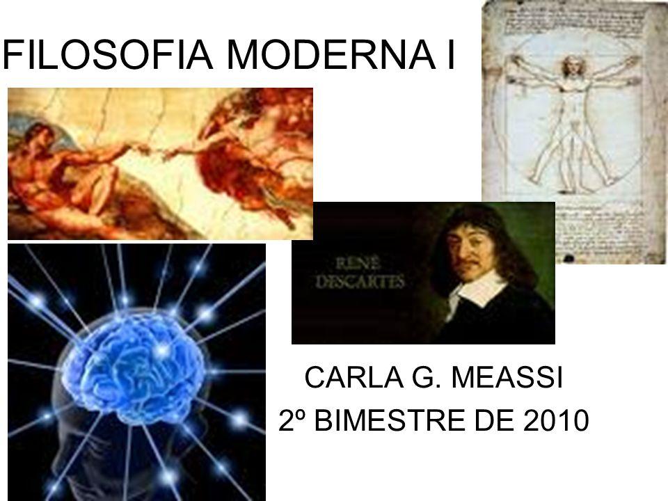 FILOSOFIA MODERNA I CARLA G. MEASSI 2º BIMESTRE DE 2010