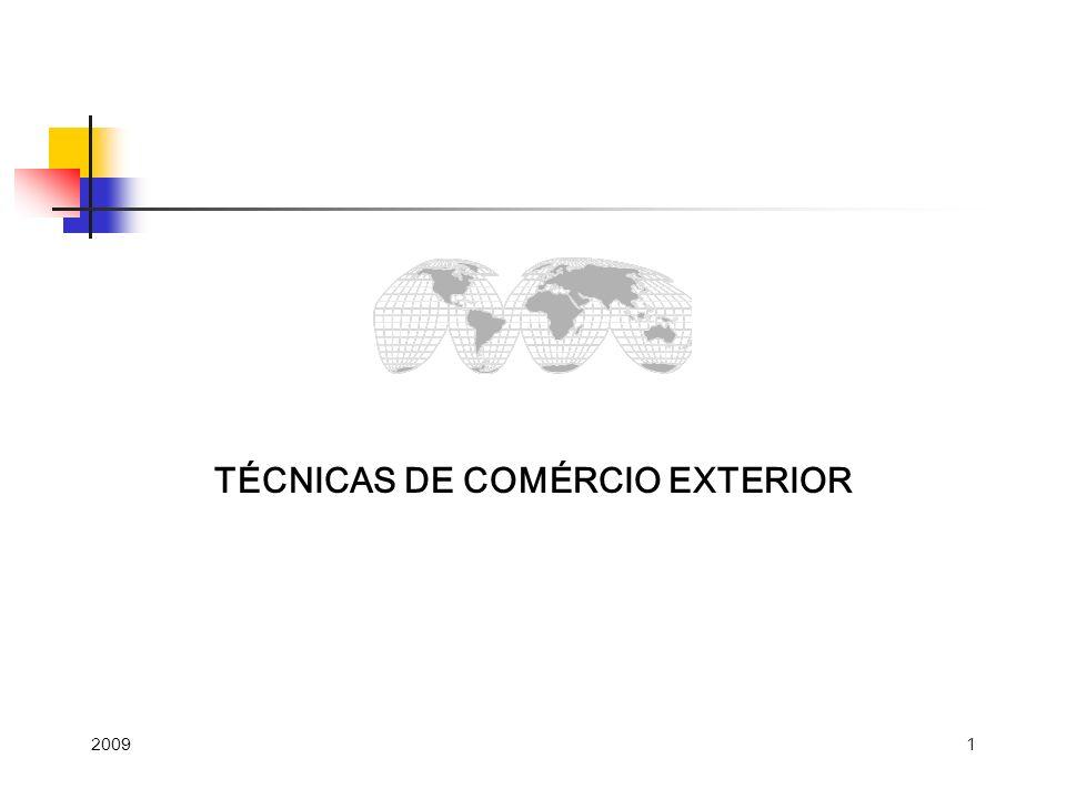 1 TÉCNICAS DE COMÉRCIO EXTERIOR 2009