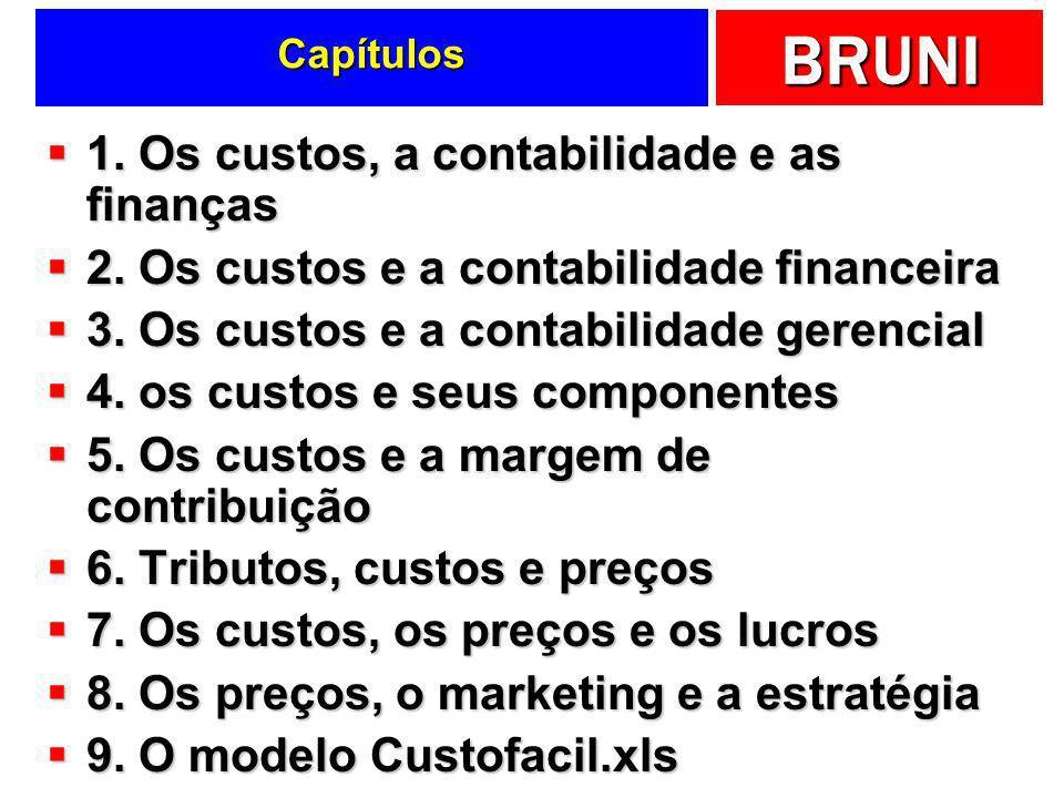 BRUNI Capítulos 1.Os custos, a contabilidade e as finanças 1.