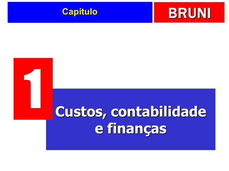 BRUNI Custeio variável Apenas os gastos variáveis são alocados aos produtos ou serviços Margem de contribuição