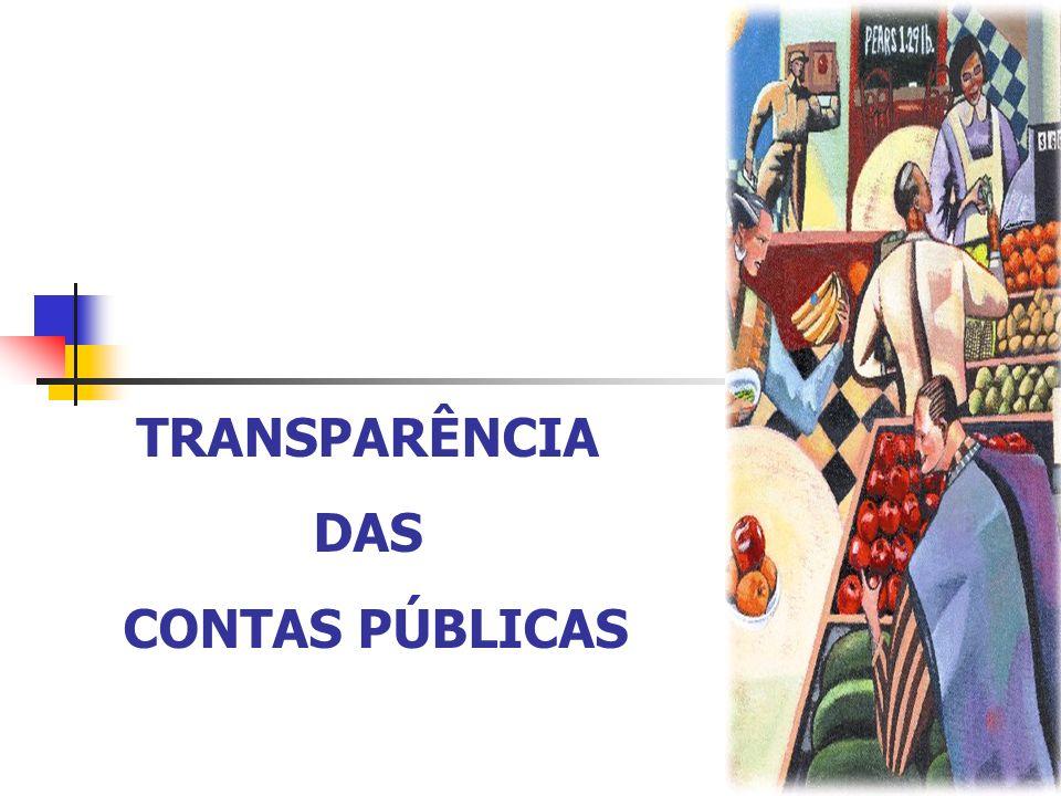 TRANSPARÊNCIA DAS CONTAS PÚBLICAS PARTIDOS POLÍTICOS Embasar suas críticas e propostas governamentais (planos de governo); Alocação de recursos públicos em ensino, pesquisa e extensão.