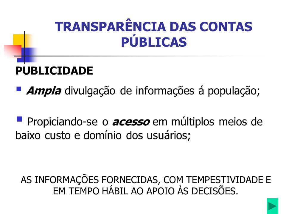 TRANSPARÊNCIA DAS CONTAS PÚBLICAS INSTITUIÇÕES DE CRÉDITO Embasar suas decisões de concessão de crédito ao estado.