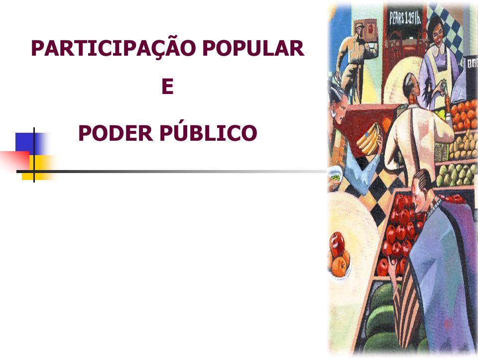 PARTICIPAÇÃO POPULAR e PODER PÚBLICO A Lei foi sancionada, recebendo o nome de Estatuto da Cidade.