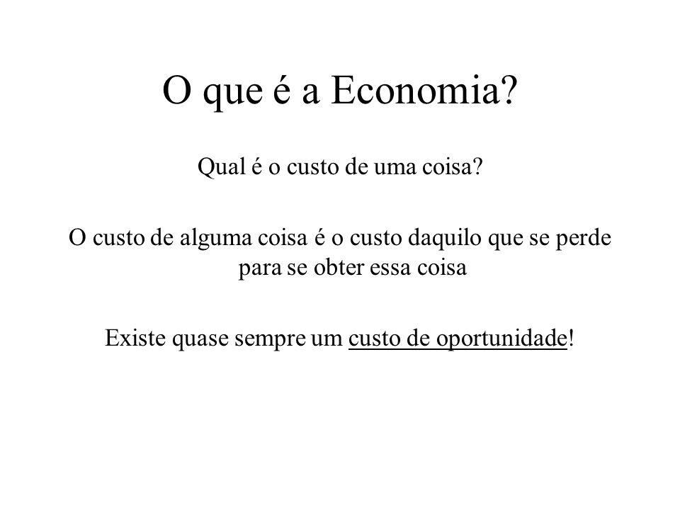 O que é Economia? Existe a necessidade de se tomarem decisões, de se fazerem escolhas! O quê? Como? Para quem?