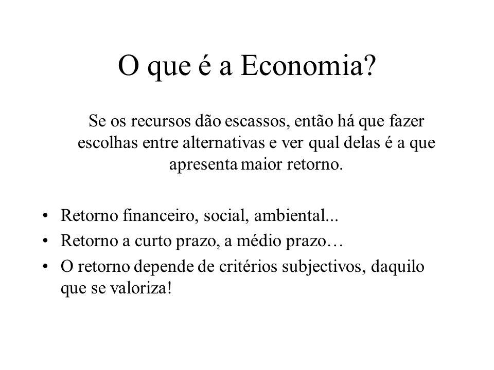 O que é Economia? Do mesmo modo… Estudar ou trabalhar? Estudar ou ir namorar? Ficar na caminha a dormir ou ir à aula das 9?
