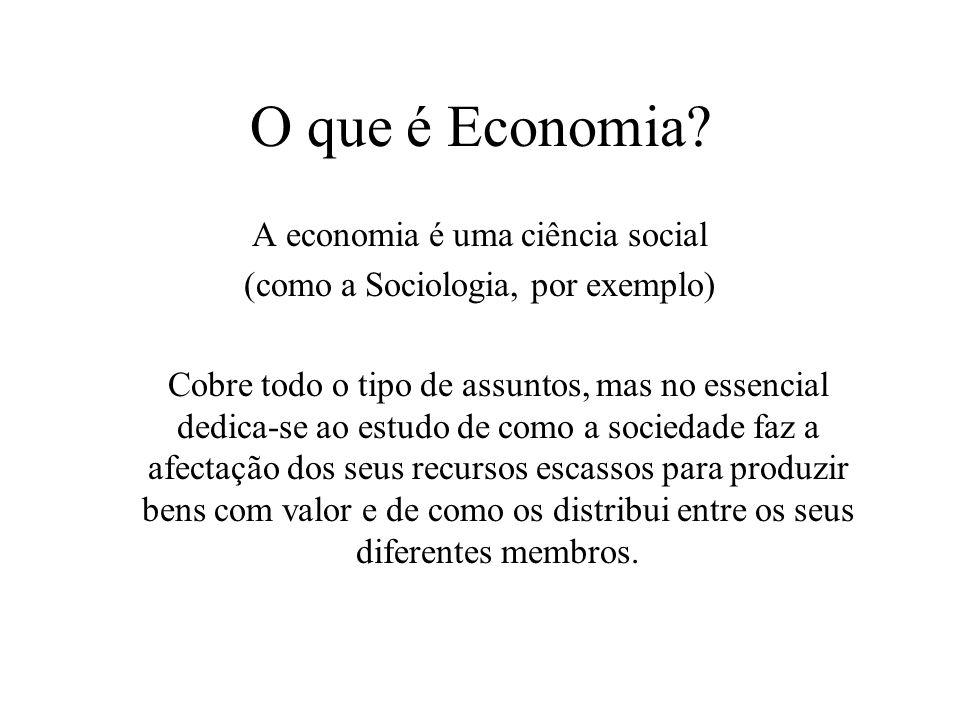 O que é a Economia.
