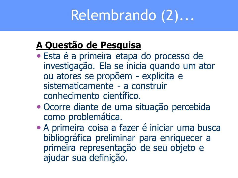 Relembrando (3)...