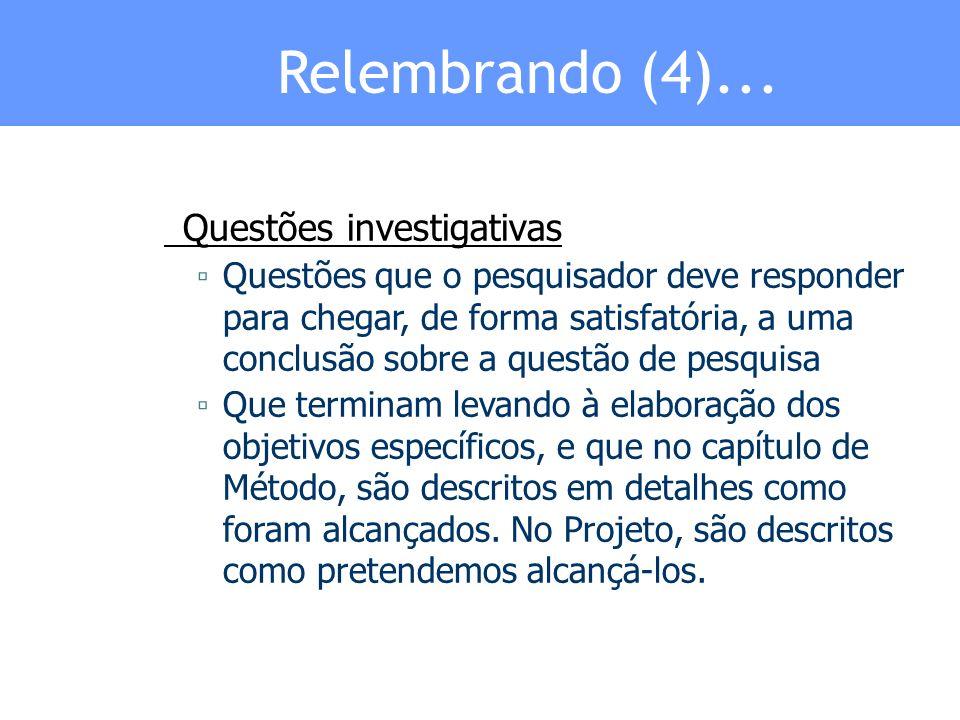 Relembrando (5)...