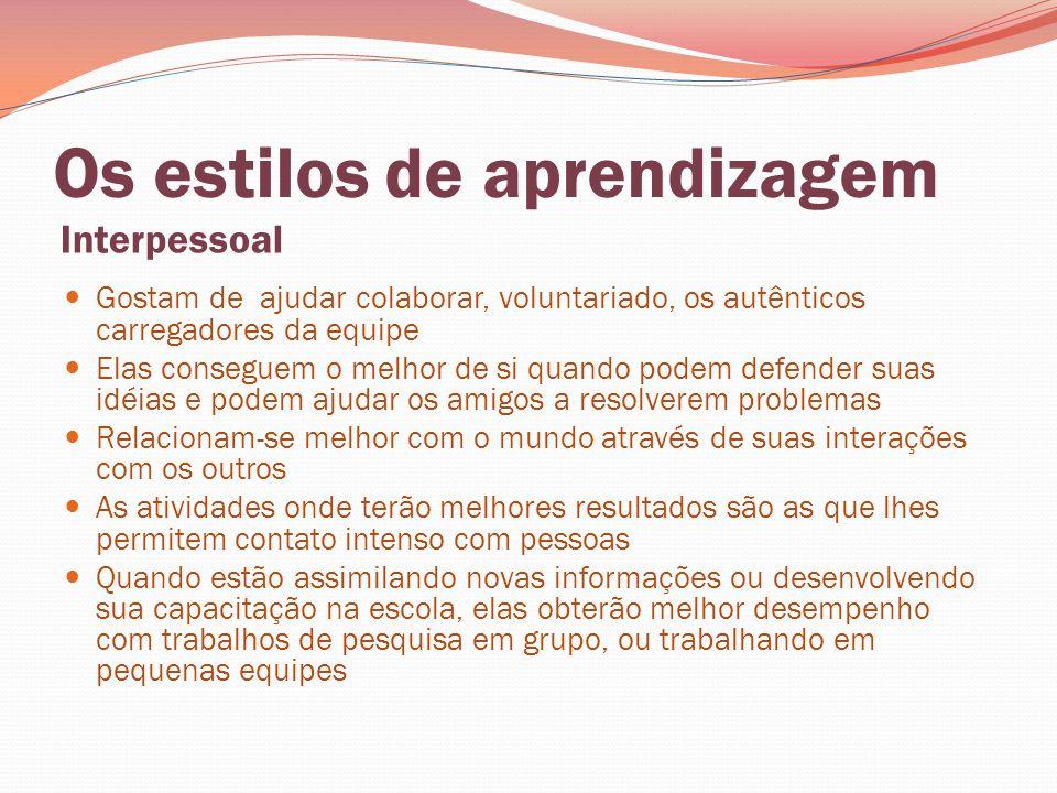 Referências ALONSO, C.M.; GALLEGO, D. J.; HONEY, P.