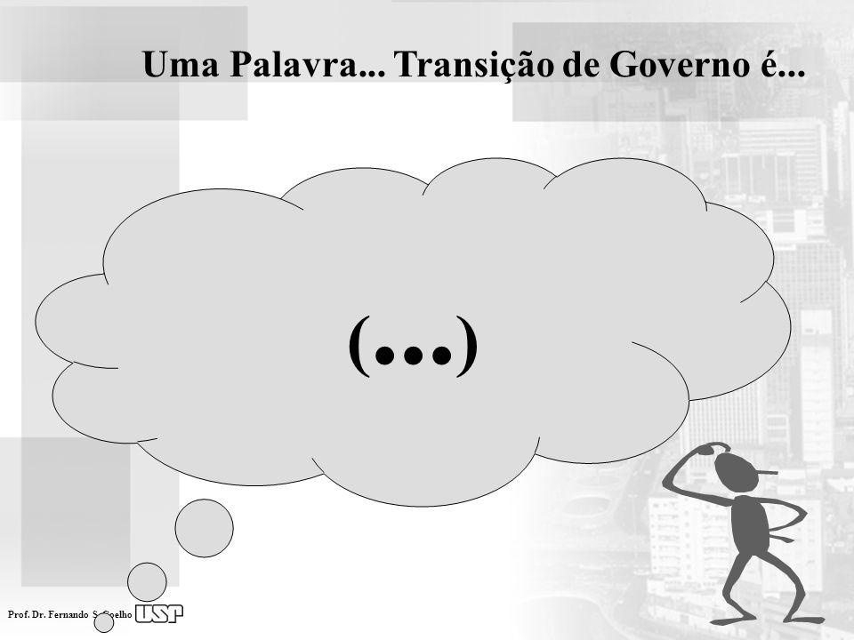 Prof. Dr. Fernando S. Coelho Uma Palavra... Transição de Governo é... (... )
