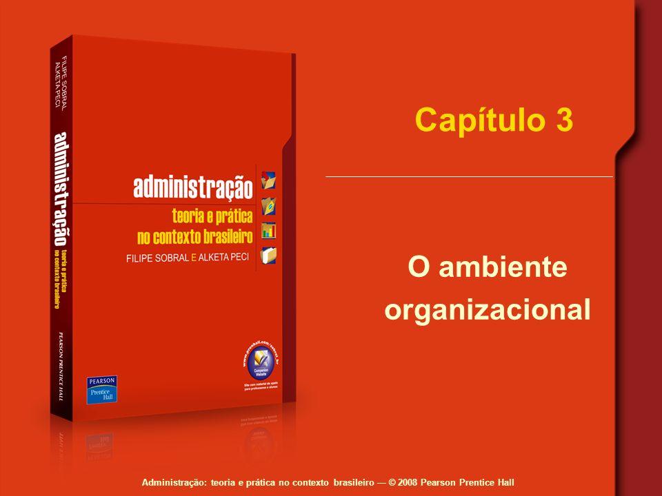 Administração: teoria e prática no contexto brasileiro © 2008 Pearson Prentice Hall Capítulo 3 O ambiente organizacional