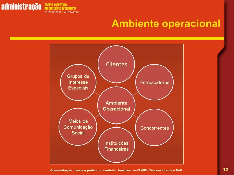 Administração: teoria e prática no contexto brasileiro © 2008 Pearson Prentice Hall Ambiente operacional 13