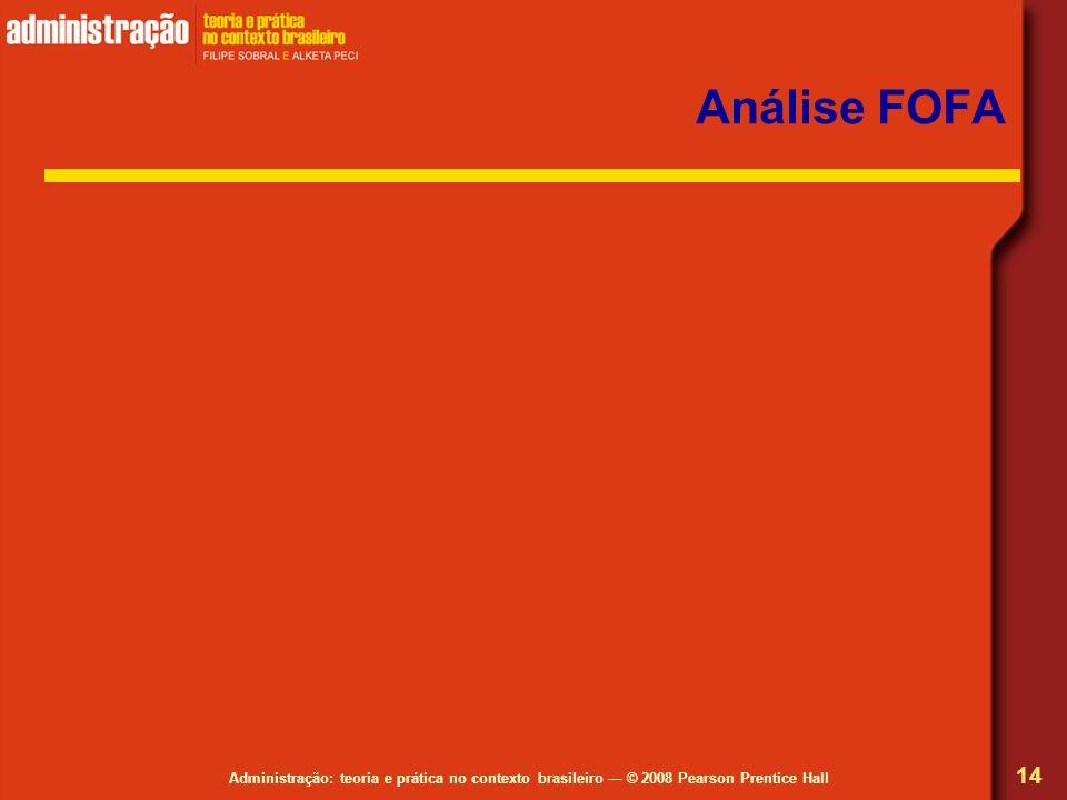 Administração: teoria e prática no contexto brasileiro © 2008 Pearson Prentice Hall Análise FOFA 14