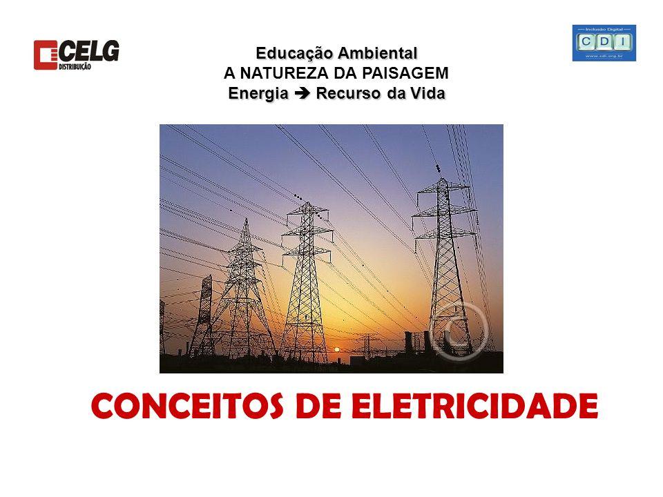 Educação Ambiental Energia Recurso da Vida Educação Ambiental A NATUREZA DA PAISAGEM Energia Recurso da Vida CONCEITOS DE ELETRICIDADE