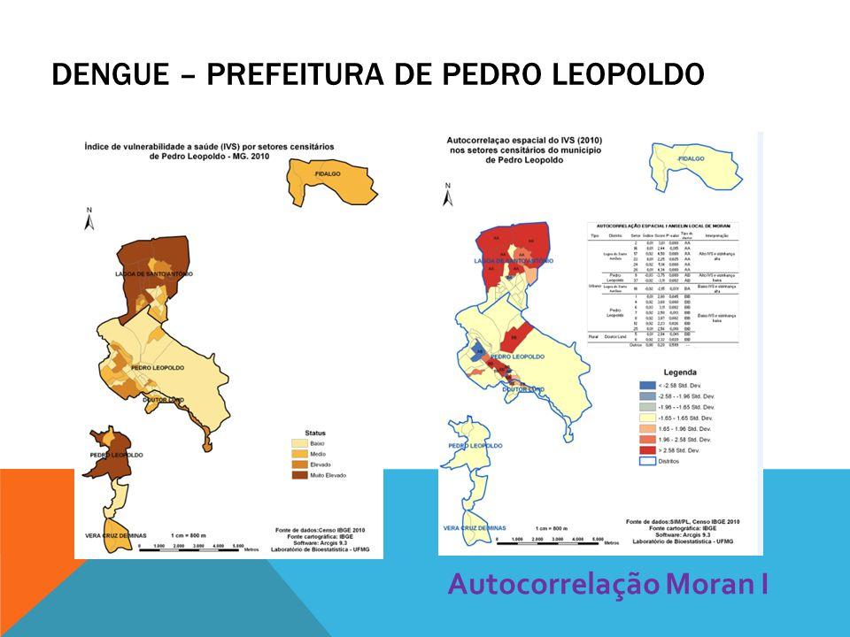 Autocorrelação Moran I DENGUE – PREFEITURA DE PEDRO LEOPOLDO