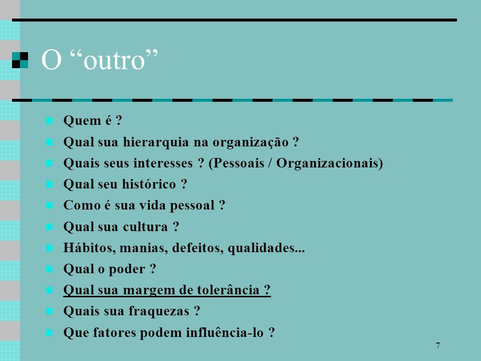 7 O outro Quem é .Qual sua hierarquia na organização .