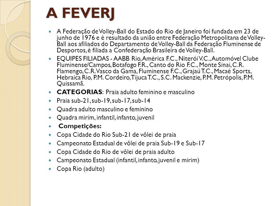 A FEVERJ A Federação de Volley-Ball do Estado do Rio de Janeiro foi fundada em 23 de junho de 1976 e é resultado da união entre Federação Metropolitan