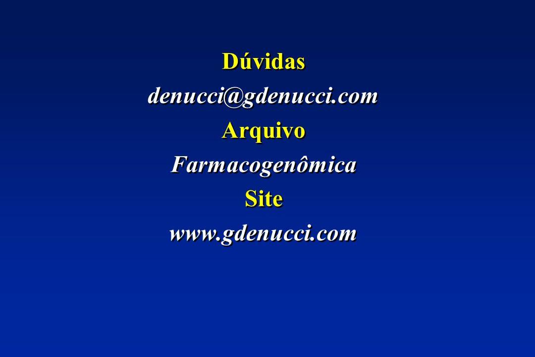 Dúvidas denucci@gdenucci.com Arquivo Farmacogenômica Site www.gdenucci.com Dúvidas denucci@gdenucci.com Arquivo Farmacogenômica Site www.gdenucci.com