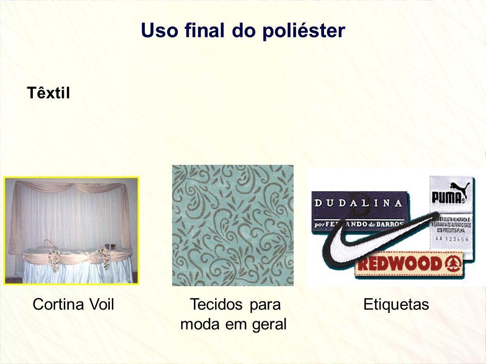 Uso final do poliéster Têxtil Cortina Voil Tecidos para moda em geral Etiquetas