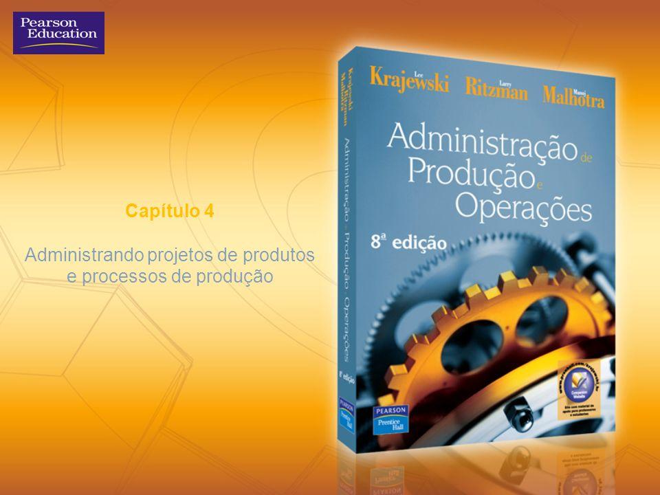 Capítulo 4 Administrando projetos de produtos e processos de produção