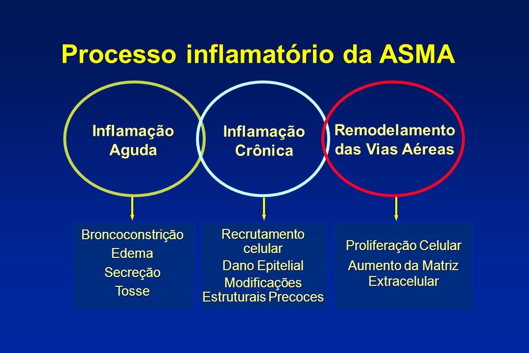 Eosinófilos 1 2 3 4 5 6 7 8 06121824 Weeks Triamcinolone Salmeterol Placebo Run-In Double-Blind Treatment 0.0003 0.0007 Mean Sputum Eos (%)
