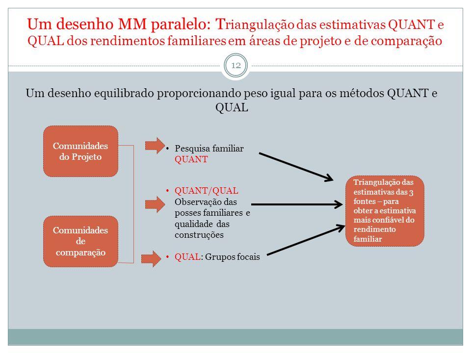 13 Dimensão 3: Projetos de avaliação MM Multi- níveis