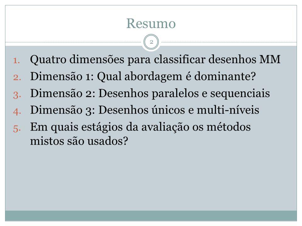 1.Quatro dimensões para classificar desenhos baseados em métodos mistos 3 1.