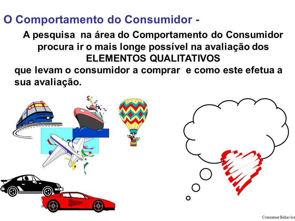 O Comportamento do Consumidor - A pesquisa na área do Comportamento do Consumidor procura ir o mais longe possível na avaliação dos ELEMENTOS QUALITAT